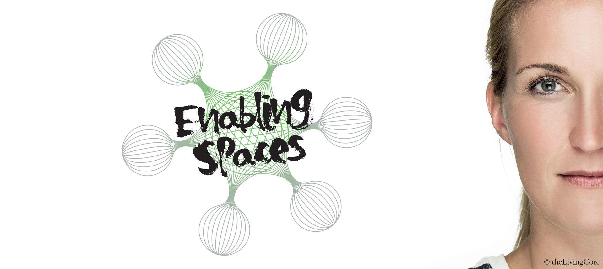 Enabling Places Grafik und halbes Portrait Gsicht